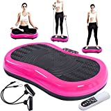 ABS + Steel Frame Vibration Platform Exercise Matchine Pink 5.5'' With Ebook