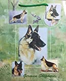 Dog Breed Gift Bags Set of Two with Tissue Paper (German Shepherd)