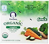 Gerber Organic 2nd Foods Pouches, Carrot, Zucchini, Broccoli, 3.5 Ounce, 12 count