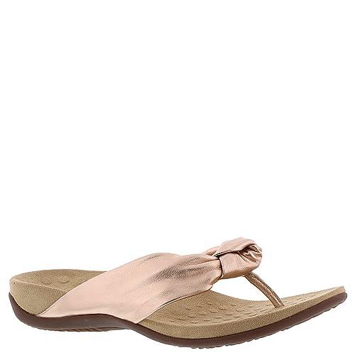 Knot Leather Flip Vionic Rest Ladies Sandals Pippa Toepost Women's MSGLqVUzp