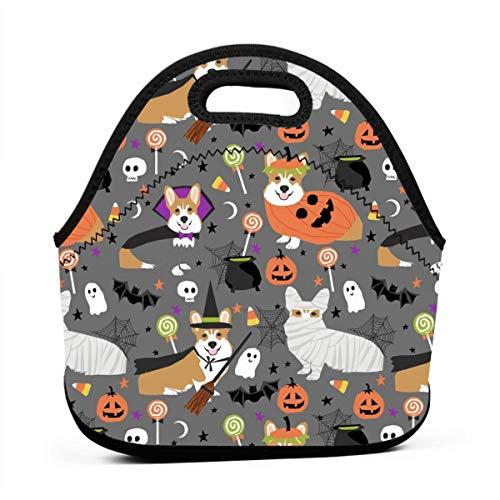 Reusable Lunch Bags Corgi Halloween Costumes Mummy Vampire