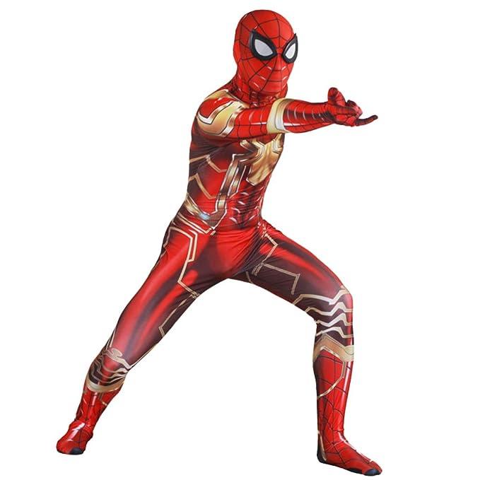 Traje de Traje de Spiderman Traje elástico Monos Cosplay ...