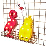 AceList 2-set 3D LED Marquee Signs Lights, Flamingo Pineapple Christmas Decorative Wall Lamp Signs Home Party Festivals Romantic Night