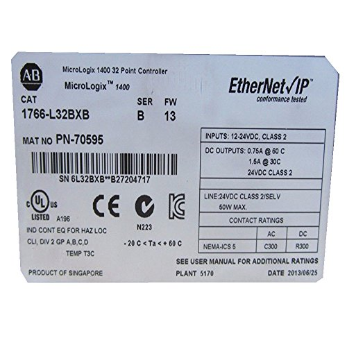 New AB Allen-Bradley MicroLogix 1400 PLC 1766-L32BXB