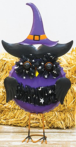 Colorful Witchy Owl Metal Halloween Figures Standing Decoration (Homemade Outdoor Decorations For Halloween)