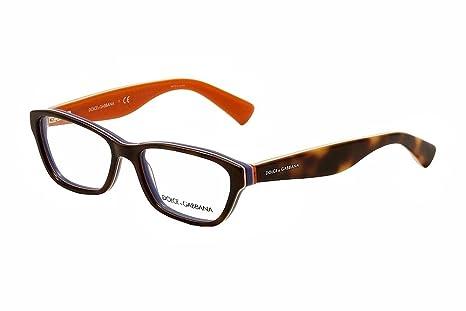 4405043a5e8b Dolce   Gabbana DG3175 Eyeglasses-2765 Havana Multilayer Orange-52mm   Amazon.ca  Health   Personal Care