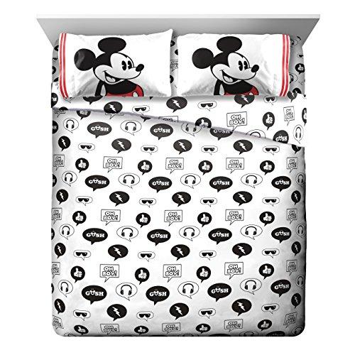 Disney Mickey Mouse Jersey White 4 Piece Full Sheet Set