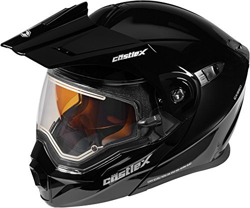 Castle X EXO-CX950 Electric Modular Snowmobile Helmet - Solid Black - XLG