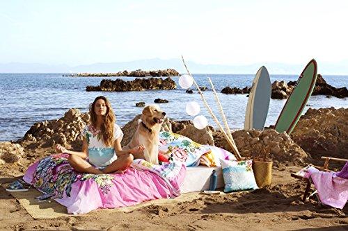 Alto de pijama–Camiseta Cadaques–Desigual–blanco, turquesa, rosa Blanc, turquoise, rose