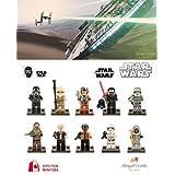 ABG toys Minifigures STAR WARS Kylo Ren, Chewbacca, Rey, Han Solo, Poe Dameron, Tie Fighter Pilot, First Order Storm Trooper, Finn, Captain Plasma, Unkar's Thugs Series Building Blocks Sets Toys