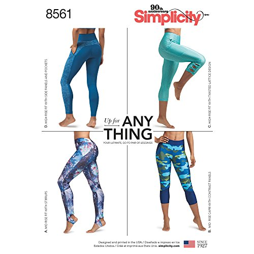 Simplicity Creative Patterns 8561 AA Misses' and Women's Knit Leggings With Seam Variations, Size XS-XL ()