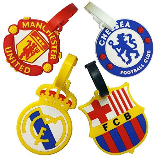 Set of 4 FIFA 16 Football Club Soccer Theme Luggage Tag/ID Tag Set