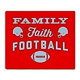 CafePress - Family Faith Football - Soft Fleece Throw Blanket, 50''x60'' Stadium Blanket