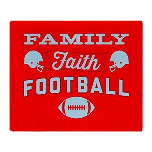 CafePress - Family Faith Football - Soft Fleece Throw Blanket, 50''x60'' Stadium Blanket by CafePress