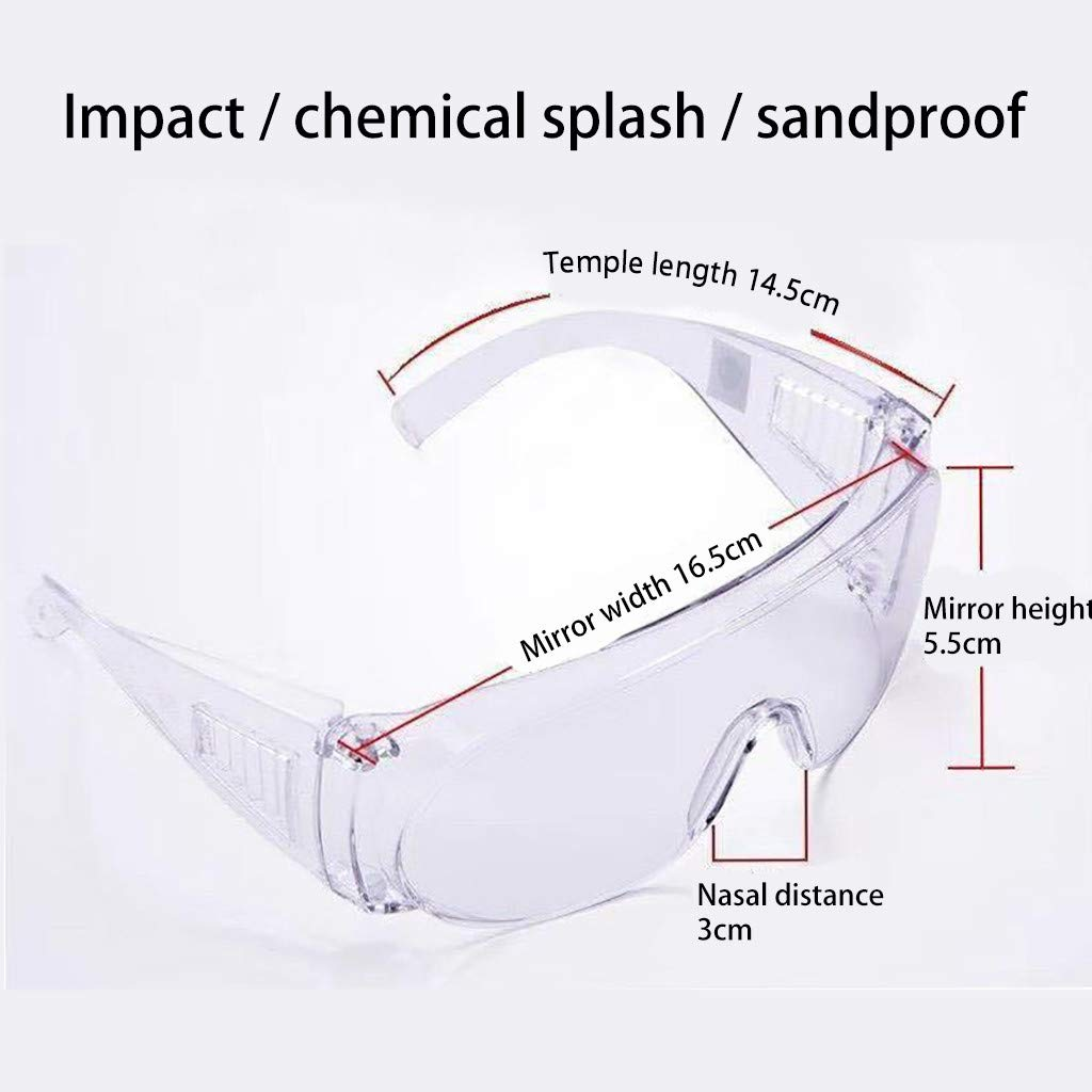 Multifunctional Protective Glasses,Starwak Protective Sports Goggles Lab Safety Goggles Ski Goggles Motorcycle Goggles Dustproof Windproof Sandproof Splashproof Eye Protector for Kids Men Women 1PC
