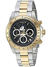 Mens Disney Limited Edition Quartz Metal and Stainless Steel Casual Watch, Color: