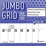 Goldistock -''Jumbo Large Print'' Eco-Friendly 2019 Large Planner Wall Calendar- 12'' x 24'' (Open) - Thick & Sturdy Paper - Perfect for Organizing & Planning - Oversized Blocks