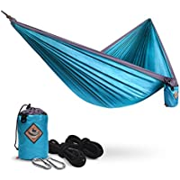 Pacearth Double Camping Hammock (Blue)