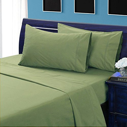 Moss Solid Full Sleeper Sofa Bed Sheet Set in 100% Egyptian Cotton-900 Thread Count