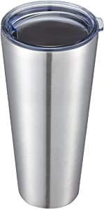 COMOOO 30oz Tumbler Stainless Steel Tumbler with Lid, Double Wall Insulated Coffee Travel Mug for Home, Office, School & Travel, Great Coffee Cup for Keeping Beverage Cold and Hot (Silver,1 Pack)
