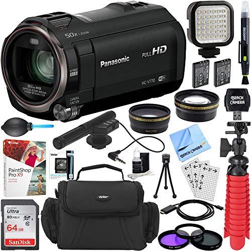 Panasonic HC-V770K HD Camcorder with Mini Zoom Microphone +