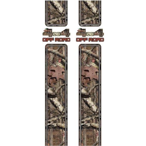 Panel Quarter Skin Rear (Mossy Oak Graphics 12009-BI Break-Up Infinity '4x4 Off Road' Rear Quarter Panel Kit)
