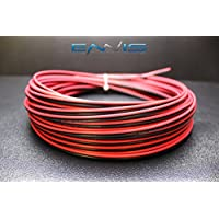 16 GAUGE 200 FT RED BLACK SPEAKER ZIP WIRE AWG CABLE POWER STRANDED COPPER CLAD BY ENNIS ELECTRONICS