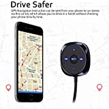 Bluetooth-Car-Kit-Comsoon-Bluetooth-40-Car-Adapter-Wireless-Stereo-Handsfree-Speakerphone-with-One-Port-21A-USB-Car-Charger-35mm-Aux-Jack-Magnetic-Mounts