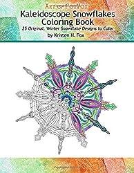 Kaleidoscope Snowflakes Coloring Book: 25 Original, Winter Snowflake Designs to Color by Kristen N Fox (2015-08-25)