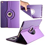 iPad 2017 New Cover 9.7 Inch, TechCode 360 Degree Rotating Stand PU Leather Case Protective Flip Folio Detachable Soft Rubber Cover for Apple 2017 New iPad 9.12 Inch