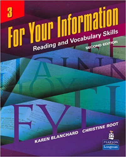 For Your Information: Reading and Vocabulary Skills, No....