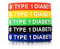 XUANPAI 5 Pack Rubber Silicone Sport Medical Emergency Alert ID Bracelets Wristband Men Women Kids