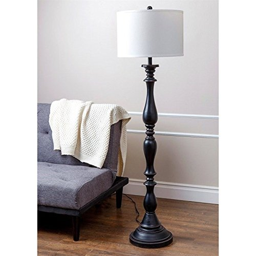 Abbyson Cooper Floor Lamp, Espresso Brown