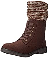 Rocket Dog Women's Temecula Joshua Blankie Combat Boot, Brown, 7.5 M US