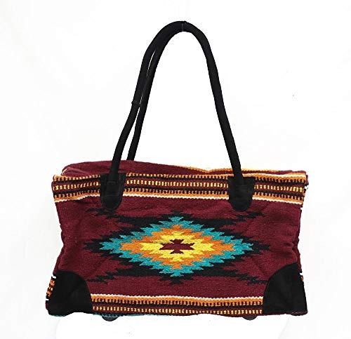 Weekender Travel Bag Luggage Fully Lined Suede Handles Southwest Design I