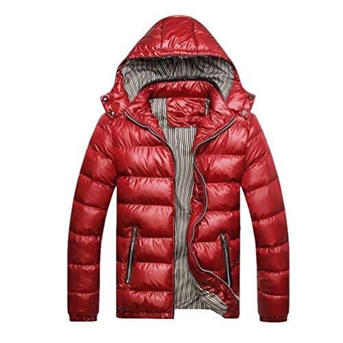 D'hiver Capuche Hiver Rouge Matelassé Pour À Élégant Manteau Automne Homme Parka Retro Chaud Targogo 65tqgwn