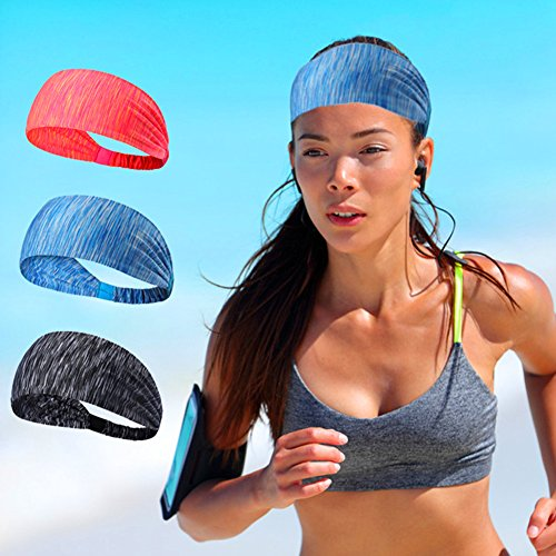 AYAYA Headband/Shports Sweatband for Yoga,Cycling,Running,Work Out,Fitness Exercise - Perfect Stretch Performance & Moisture Wicking for Men and Women