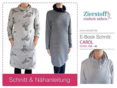 SCHNITTMUSTER Kleid mit Kapuze oder Schalkragen Carol Gr 158 bis ...
