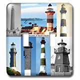 3dRose lsp_61730_2 Lighthouses of South Carolina Light Switch Cover