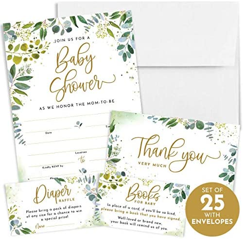 Printperie Greenery Shower Invitation Envelopes product image