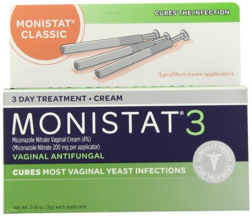 Monistat 3 Vaginal antifongique médicaments, 0,18 once, 3 préremplies applicateurs