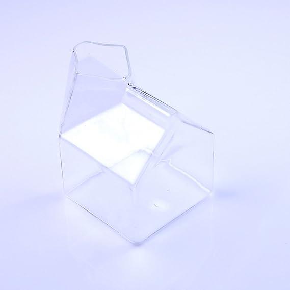 Compra Botella de Cerámica Caja de Leche Bebida Taza de Cristal Cartón Crema Claro en Amazon.es