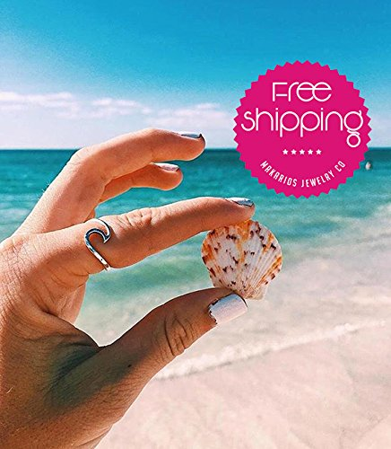 [Wave ring, surfers ring, hammered wave, ocean wave ring, finger wave ring, gift for her, beach jewelry, mermaid ring, gypsy, sea rings, beach rings] (Handmade Hammered Ring)