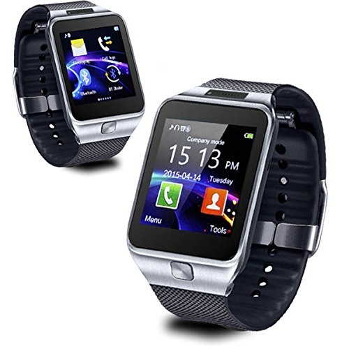 indigi Universal Compatible (iOS & Android) GSM Wireless SmartWatch & Phone (2 in 1) w/Built in Camera + Notifications
