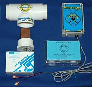 Electronic Copper/Silver Ion Purifier Mineralizer for up to 25,000 gallon Pool