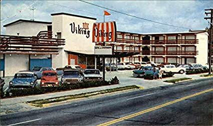 Review The Viking Motel Apartments Virginia Beach, Virginia Original Vintage Postcard