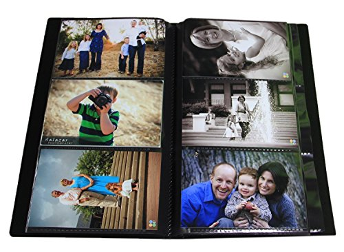 2PO Advanced Capacity Space Saver Photo Album/Portfolio, Holds 504 of 4 x 6 Photos, Black Clear Front Translucent Portfolios