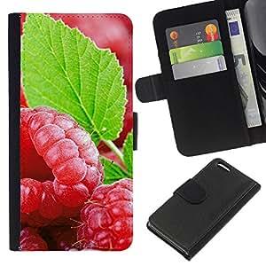 KLONGSHOP // Tirón de la caja Cartera de cuero con ranuras para tarjetas - Fruit Fresh Mint - Apple Iphone 5C //