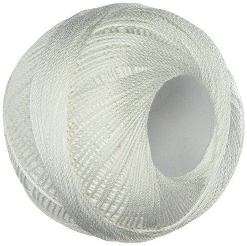 - LIZBETH Handy Hands Egyptian Cotton Crochet Thread, Tatting Thread, and Knitting Thread Lace Size 10 (25 Grams 122 Yards) - HH10601, Snow White