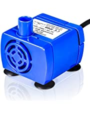 Pet Fountain Circulating Pump,5.9ft Ultra Low Noise AC Submersible Pump,Energy efficient,Safe and Durable